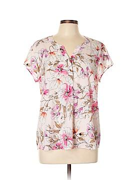 Croft & Barrow Short Sleeve Blouse Size L
