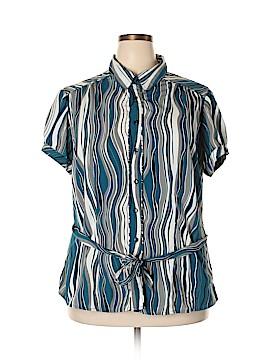 MKM Designs Short Sleeve Button-Down Shirt Size 2X (Plus)