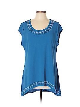 PREMISE Short Sleeve Blouse Size XL (Petite)