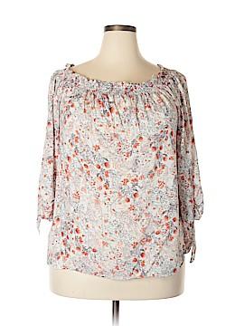 Lucy & Laurel 3/4 Sleeve Blouse Size 1X (Plus)