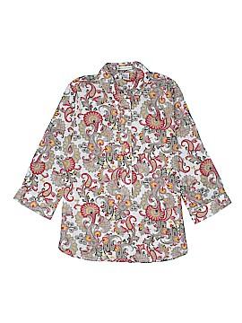 Rebecca Malone 3/4 Sleeve Button-Down Shirt Size S