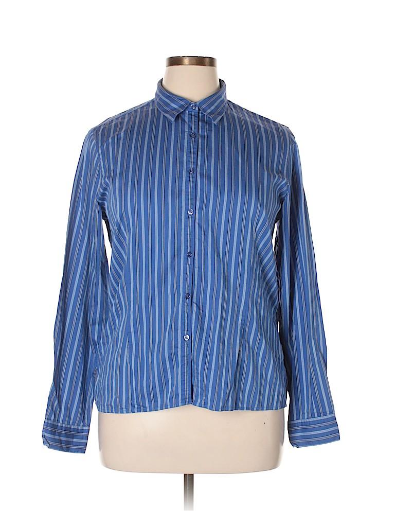 Casual Corner Annex Women Long Sleeve Button-Down Shirt Size XL