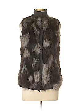 Cache Faux Fur Vest Size S