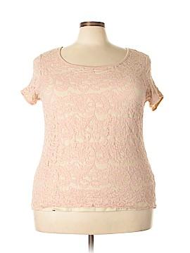 Roz & Ali Short Sleeve Top Size 2X (Plus)