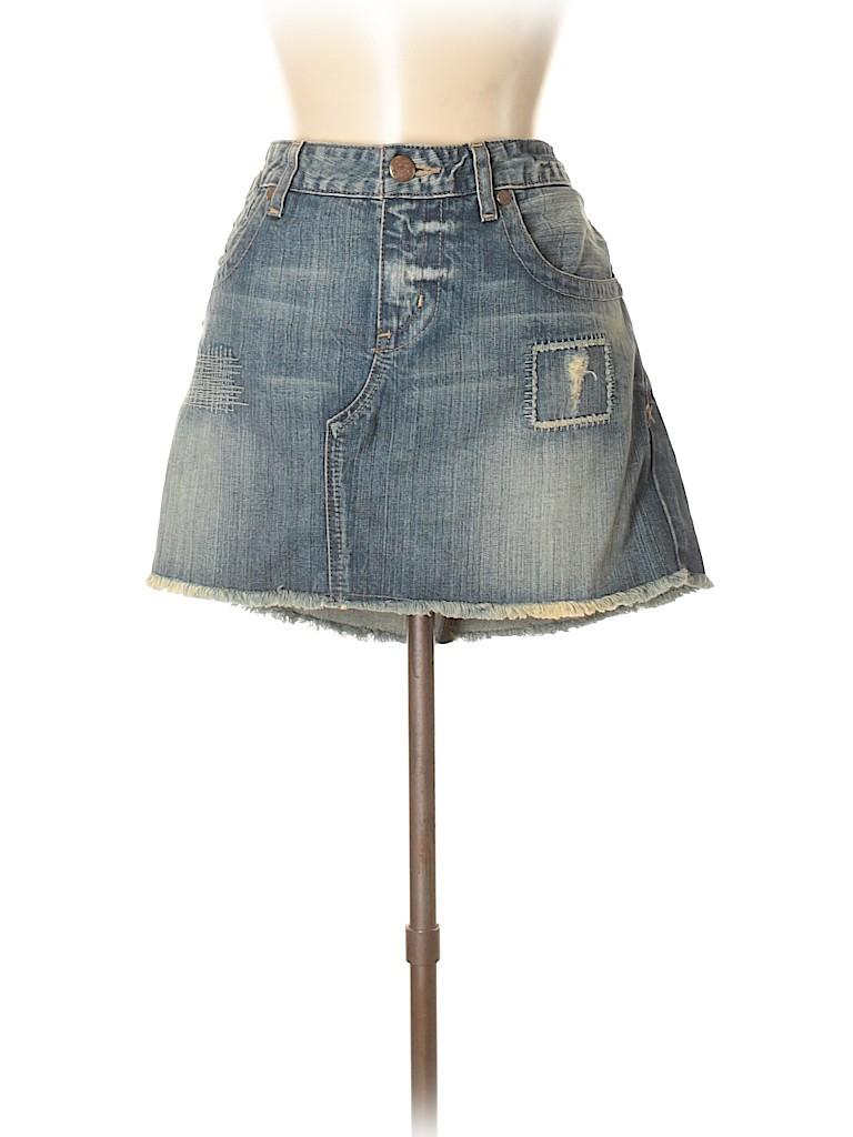 Guess Women Denim Skirt 30 Waist