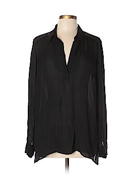 Elizabeth and James Long Sleeve Silk Top Size XL