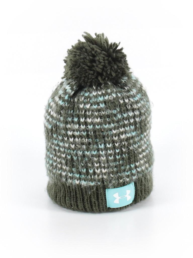 e96e37a81f5f93 Under Armour 100% Acrylic Solid Dark Green Winter Hat Size 4-6Y - 65 ...