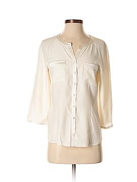Lafayette 148 New York 3/4 Sleeve Silk Top Size 2
