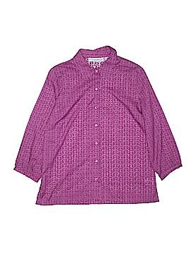 Sag Harbor 3/4 Sleeve Button-Down Shirt Size S