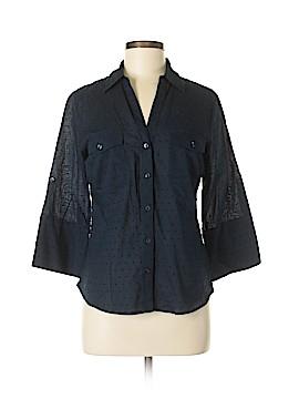 Ellen Tracy 3/4 Sleeve Button-Down Shirt Size M