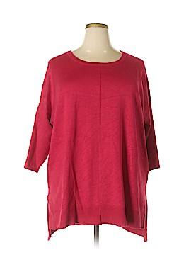 Cynthia Rowley 3/4 Sleeve Top Size 3X (Plus)