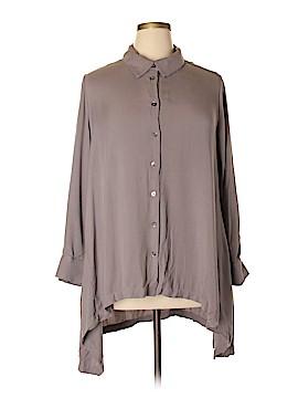 LOGO by Lori Goldstein Long Sleeve Button-Down Shirt Size 20 (Plus)