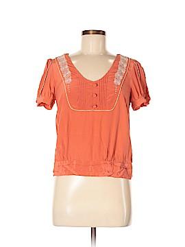 Floreat Short Sleeve Silk Top Size 6