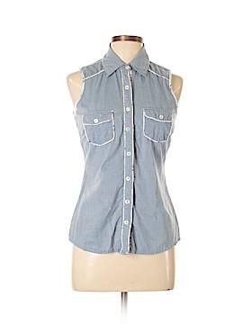 6 Degrees Sleeveless Button-Down Shirt Size M