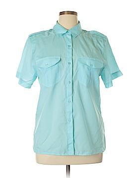 Diane von Furstenberg Short Sleeve Button-Down Shirt Size 14