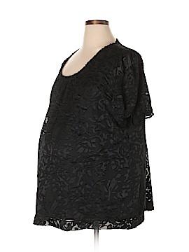 Two Hearts Maternity Short Sleeve Blouse Size 2X (Maternity)