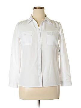 Kim Rogers Long Sleeve Button-Down Shirt Size L