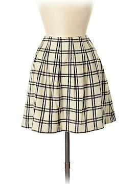 Pink Tartan Wool Skirt Size 8