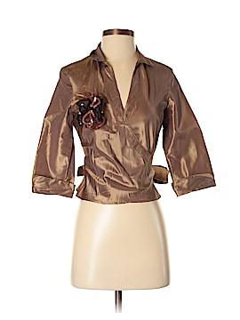 Monsoon 3/4 Sleeve Silk Top Size 4