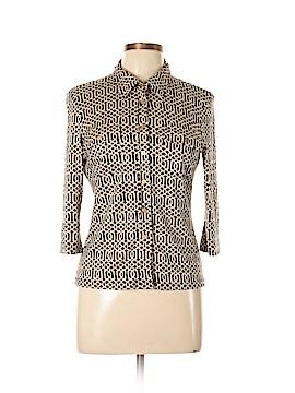 J. McLaughlin 3/4 Sleeve Silk Top Size M