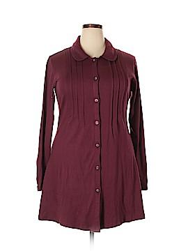 Sahalie Long Sleeve Button-Down Shirt Size 1X (Plus)