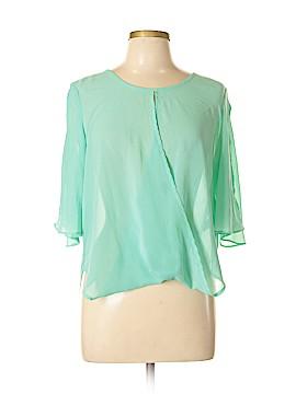 Ya Los Angeles Short Sleeve Silk Top Size L