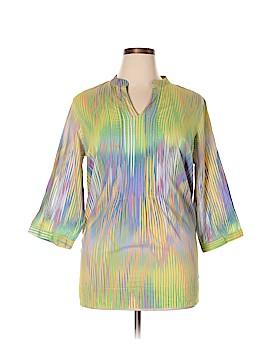 Liz & Co 3/4 Sleeve Blouse Size 1X (Plus)