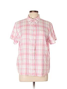 Basic Editions Short Sleeve Button-Down Shirt Size XL
