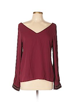 Francesca's Long Sleeve Blouse Size L