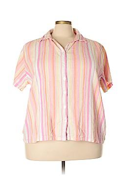 Krazy Kat Short Sleeve Button-Down Shirt Size 2X (Plus)
