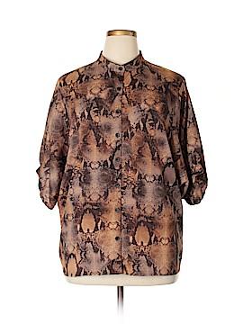 Allen B. by Allen Schwartz Short Sleeve Blouse Size XL