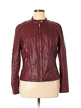 Black Rivet Faux Leather Jacket Size XL
