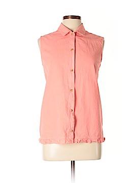 Jennifer Moore Sleeveless Button-Down Shirt Size XL