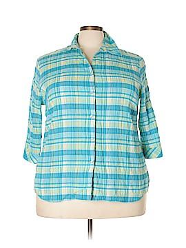 Alia 3/4 Sleeve Button-Down Shirt Size 18 (Plus)