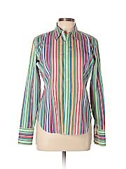 Ralph Lauren Black Label Women Long Sleeve Button-Down Shirt Size 10
