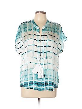 Armani Collezioni Short Sleeve Silk Top Size 6