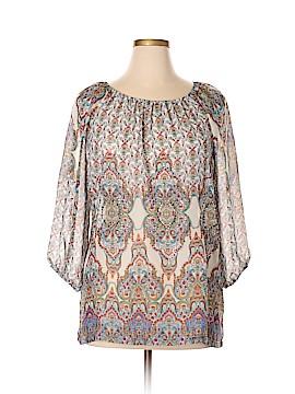 Mel & Mo 3/4 Sleeve Blouse Size XL