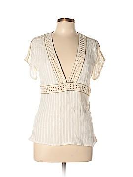 Lauren Moffatt Short Sleeve Blouse Size L