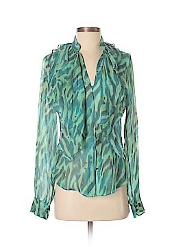 Zac Posen Long Sleeve Silk Top Size 4