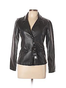 Emporio Armani Faux Leather Jacket Size M
