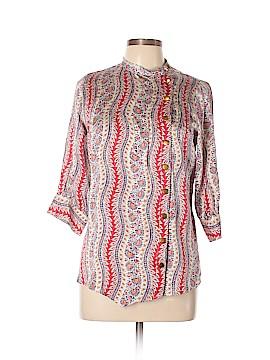 Lauren Moffatt Long Sleeve Silk Top Size M