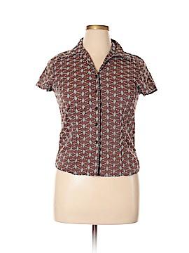Autograph Short Sleeve Button-Down Shirt Size XL