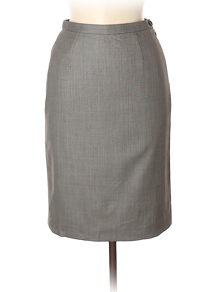 Giorgio Armani Classico Women Wool Skirt Size 38 (EU)