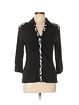 Ravel 3/4 Sleeve Button-Down Shirt Size M