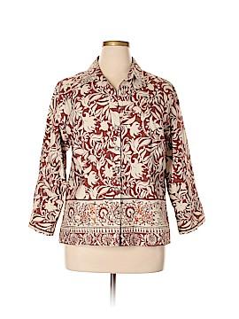 MULTIPLES 3/4 Sleeve Button-Down Shirt Size XL