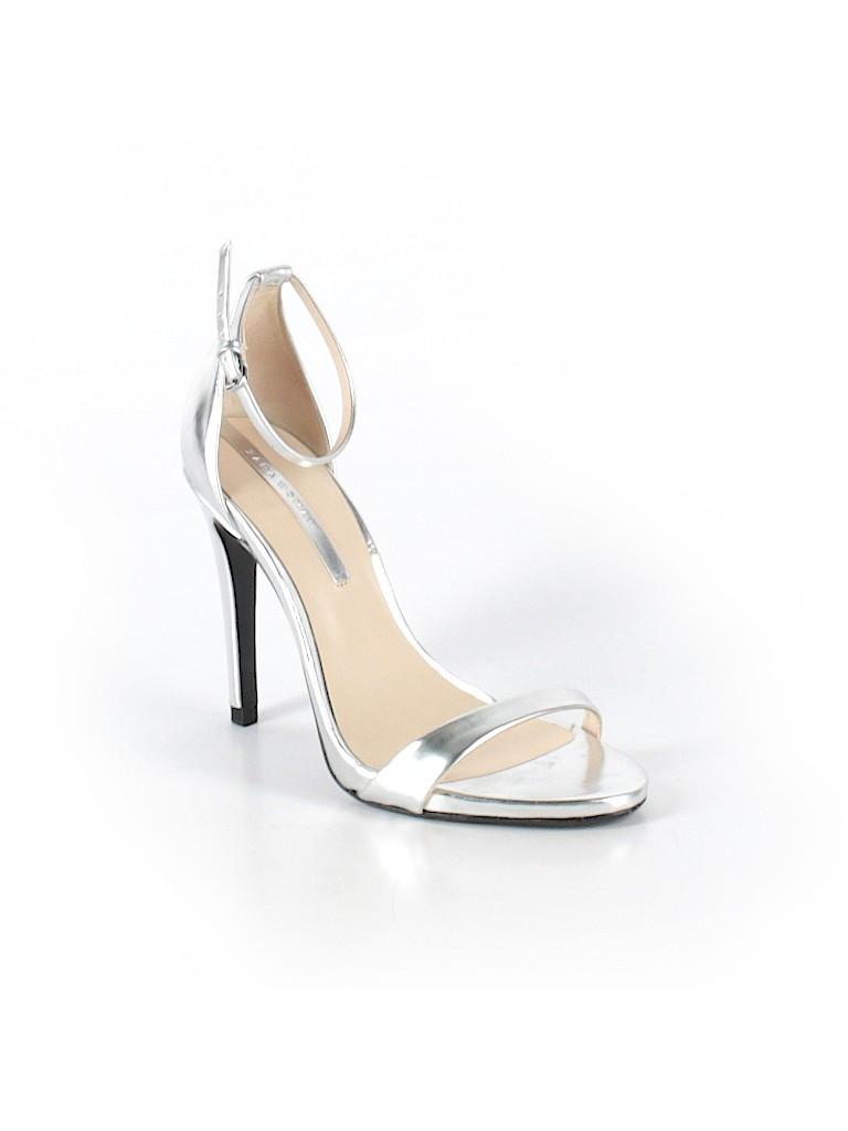 ad9d7c97461 Zara Metallic Silver Heels Size 36 (EU) - 86% off