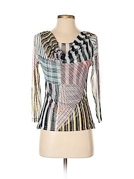 Yansi Fugel 3/4 Sleeve Silk Top Size XS