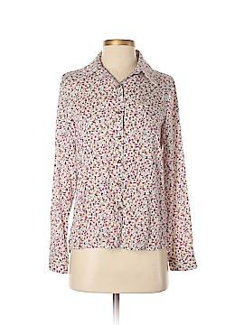 Oasap Long Sleeve Button-Down Shirt Size M