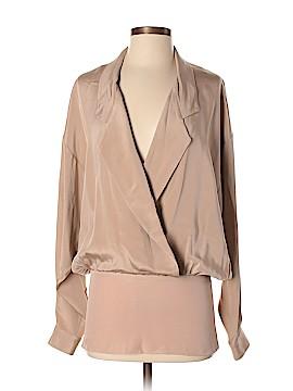 Michael Kors Long Sleeve Silk Top Size P