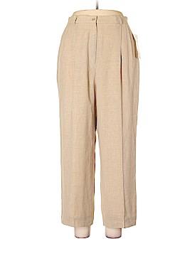 Anne Klein Linen Pants Size 16